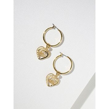 Gold Adorar Heart Earrings