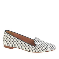 J.Crew Womens Cleo Woven Leather Loafers