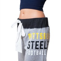 Pittsburgh Steelers Womens Bow Sweatpants | SportyThreads.com