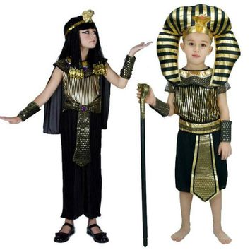 DCCKH6B 2017 fashion Egyptian Pharaoh Children Costumes Cosplay masquerade Halloween childen kid Carnival costume Cleopatra royal