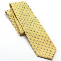 Chaps Ship Bottom Anchor Tie, Size: One Size (Yellow)