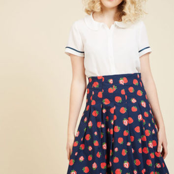 Before My Berry Eyes Midi Skirt | Mod Retro Vintage Skirts | ModCloth.com