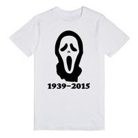 WES CRAVEN SCREAM MASK MEMORIAL SHIRT