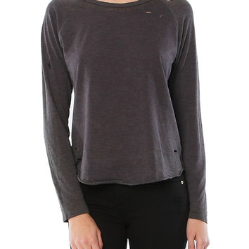 KAGAN DESTROYED LONG SLEEVE TEE