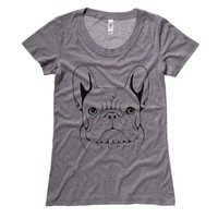 French Bulldog Sketch Womens T-Shirt