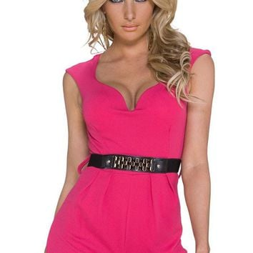 d789b3a6d Chicloth Classy Disco Pink Jumpsuit with Waistband