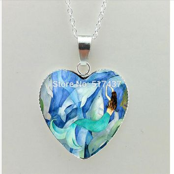 Heart Pendant Jewelry Silver Heart Shaped Necklaces Valentine's Day