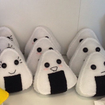 Felt Onigiri Rice Sushi Plush Toy (your choice of one)