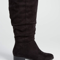 Sheryl faux suede boot in black | maurices