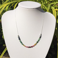 Ruby, Emerald and Sapphire Necklace