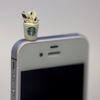 Kawaii STARBUCKS FRAPPUCCINO Iphone Earphone by fingerfooddelight