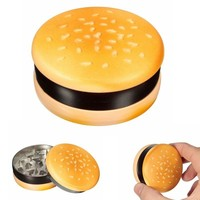 Hamburger Pipes Weed 3 Layers Grinder Pipe Smoking Creative Tobacco Pipe Herb Smoking Pipe Grinder Smoke Hookah Tobacco Crusher
