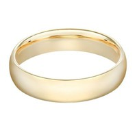 10K Yellow Gold Men's Standard Comfort Fit 6mm Wedding Band