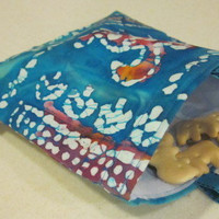 Reusable Snack Bag - Batik Turtles