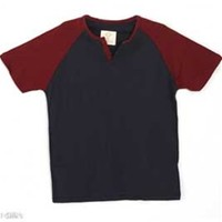 Gliks - 1897 Mens Short Sleeve Raglan Henley in Navy