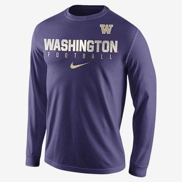 Men's Nike Washington Huskies Long Sleeve T-Shirt - Sizes XL & Large