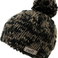 Neff Girls June Black & Grey Pom Beanie