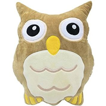 "Monqiqi 14"" Owl Stuffed Animal Emoji Plush Pillow Throw Pillow for Couch, Home Decorations and Birthday Party Supplies Favors"