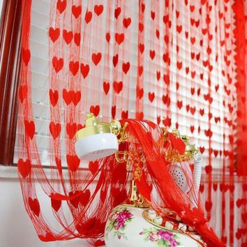 MDIGON 1*2meter heart String Tassel room door window curtain Divider for Birthday Wedding Party Decoration gift DIY background favor