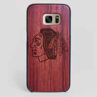 Chicago Blackhawks Galaxy S7 Edge Case - All Wood Everything