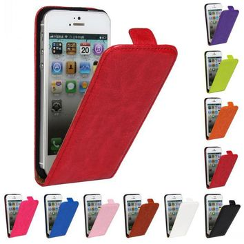 Retro Book Luxury PU Leather Case Flip Cover Phone Flip vertical cover bag For Apple iphone5/5S 5SE