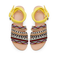 ETHNIC FLAT SANDALS - Shoes - Woman - ZARA United States