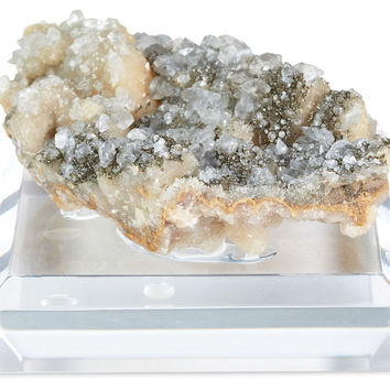 "2"" Quartz on Base, Gray, Acrylic / Lucite, Rocks, Crystals, Minerals & Petrified Wood"