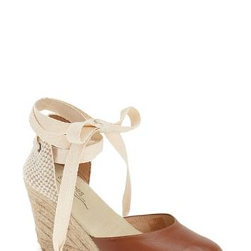Soludos Wraparound Lace Wedge Sandal (Women) | Nordstrom