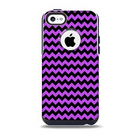 The Black & Purple Chevron Pattern Skin for the iPhone 5c OtterBox Commuter Case