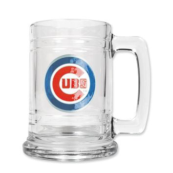 Chicago Cubs 15oz Glass Tankard - Etching Personalized Gift Item
