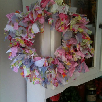 Pastel Fabric Wreath
