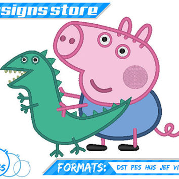 GEORGE PIG APPLIQUE Machine Embroidery Design Pattern Peppa Pig Characters