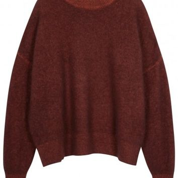 THE ROW Tinto bordeaux cashmere blend jumper