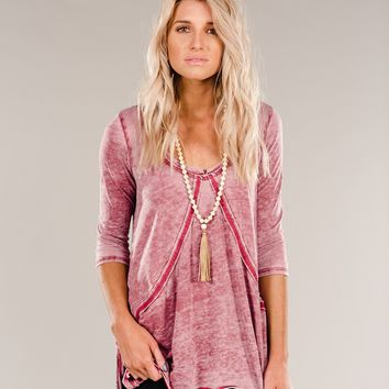 In A Stitch Tunic in Wine