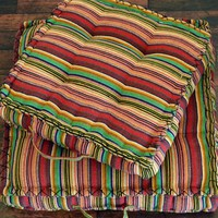 Yoga Meditation Bohemian Striped Pouf Floor Cushion