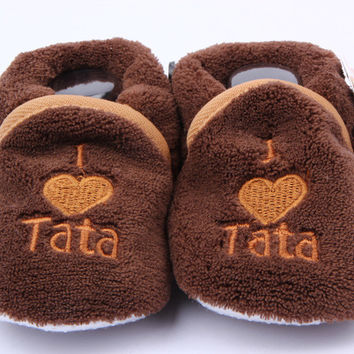 Soft Cozy Baby Toddler Shoes Kids Boy Girls Heart Letter Pattern Warm Crib First Walkers Skid-proof Shoes 0-1Y NW