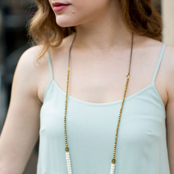 Betsy Pittard Designs Renee Necklace - White