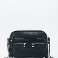 Deena & Ozzy Zip Pocket Chain Shoulder Bag in Black - Urban Outfitters