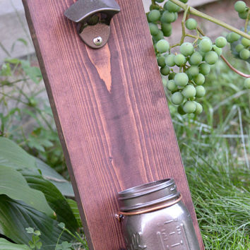 Wall Mount Bottle Opener, Groomsmen Gift