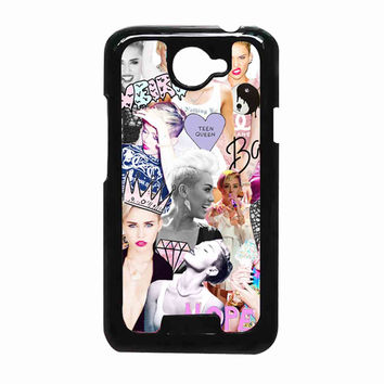 Miley Cyrus Photo collage 2287ac87-4701-489c-b29e-c47c3e113134 FOR HTC One X CASE *RA*