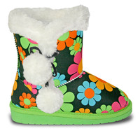 Toddlers' Loudmouth Side Tie Boots - Magic Bus