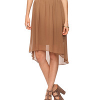 Woven High-Low Skirt | FOREVER21 - 2000038222