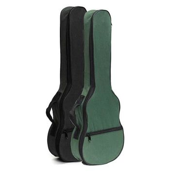 New Ukulele Soft Shoulder Black Green Carry Case Bag Musical With Straps For Acoustic Guitar Parts &Accessories