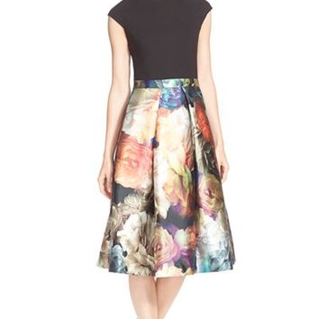 Women's Ted Baker London 'Eana' Colorblock A-Line Dress,