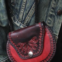 Vintage Fire Leather Bag
