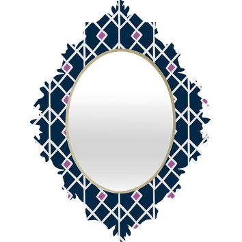 Heather Dutton Annika Diamond Orchid Baroque Mirror