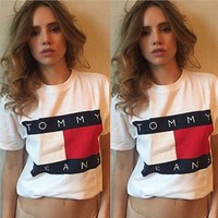 Tommy Hilfiger Tommy men and women classic tee shirt T-shirt/fashionsel