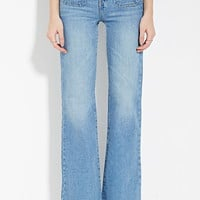 Patch Pocket Flare Jeans   Forever 21 - 2000164046