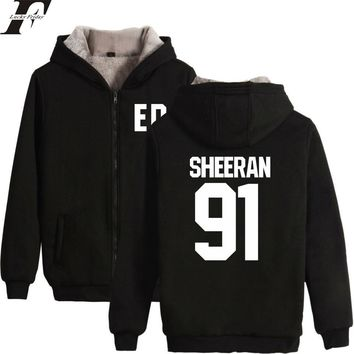 Naruto Sasauke ninja LUCKYFRIDAYF 2018 Ed Sheeran Winter Warm Hoodies Women/Men Zipper Hoodies Sweatshirt Men Number Casual Fluffy Thicken Clothes AT_81_8