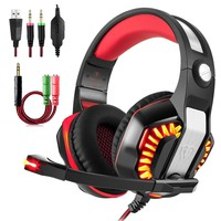 Beexcellent GM-2 Gaming Headset with Microphone, Supports New Xbox One PS4 PC, Xbox One Headphone PS4 Headphone, Earbuds with